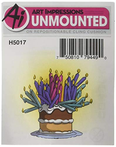 Art Impressions H5017 Girlfriends Cling Rubber Stamp Birthday Cake, Multi