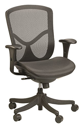 Eurotech Seating Fuzion FUZ5B-LO Mid Back Swivel Chair, Black