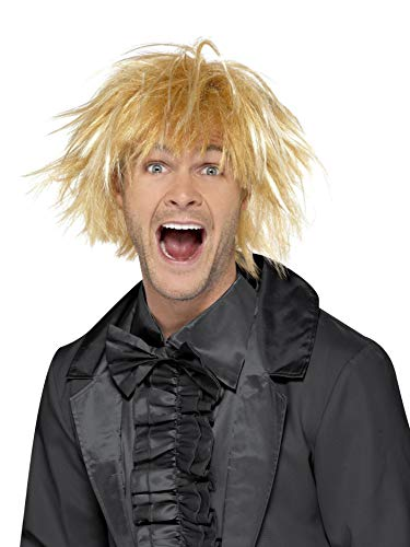 Smiffys Men's 90's Two Tone Blonde Wig, One Size, Messy Surfer Guy Wig, 43679 ()