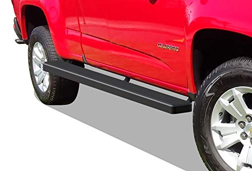 2020 Black Powder Finish - APS iBoard (Black Powder Coated 5 inches Wheel to Wheel) Running Boards Nerf Bars Side Steps Step Rails Compatible with 2015-2020 Chevy Colorado GMC Canyon Crew Cab 5ft Bed Pickup 4-Door