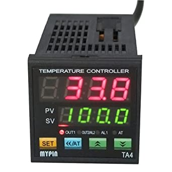 F C PID Temperature Controller, AGPtEK Dual Display Digital Programmable Temperature Control TA4-SSR Solid State Relay With 2 Alarms