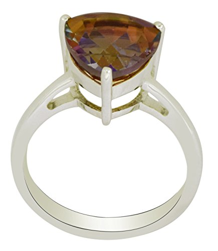 Banithani 925 pur argent merveilleux feu anneau de pierre Topaze mystique bijoux de mode indienne