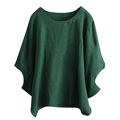 Manches à Beikoard Taille Haut Lâche Shirt T Vert Chic Tops Grande Femmes Blouse T Femme Débardeur Chemisier Chemisiers Mode Femme Shirt Top Courte Top Vest 8tY8pnIqZ