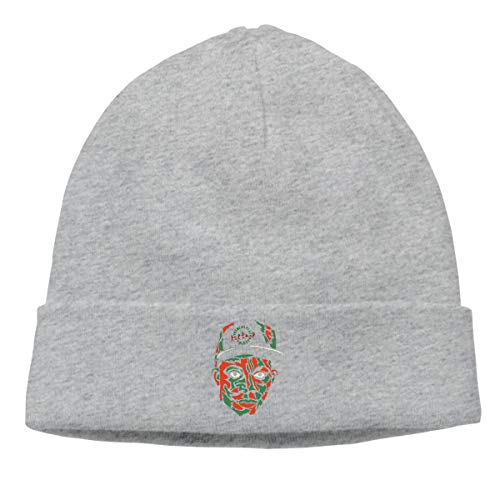 Gaoger Mens & Womens A Tribe Called Quest Skull Beanie Hats Winter Knitted Caps Soft Warm Ski Hat Gray -