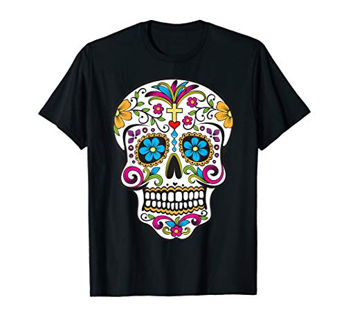 Day of the Dead Sugar Skull T-Shirt ()