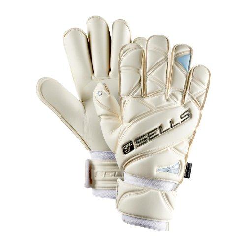 Sells Wrap (Sells Wrap Elite Wet Grip Aqua Goalkeeper Gloves Size 12 White/Black/Aqua)