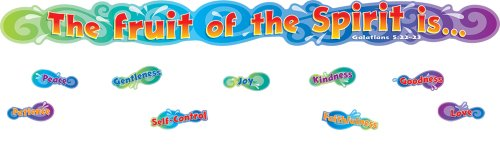Carson Dellosa Christian The Fruit of The Spirit Bulletin Board Set -