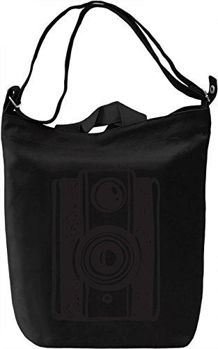 Retro camera Borsa Giornaliera Canvas Canvas Day Bag  100% Premium Cotton Canvas  DTG Printing 