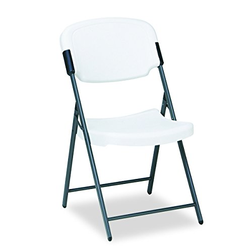 Iceberg ICE64003 Rough 'N Ready Premium Folding Chair, High-Density Plastic with Steel Frame, 225 lbs Load Capacity, Platinum
