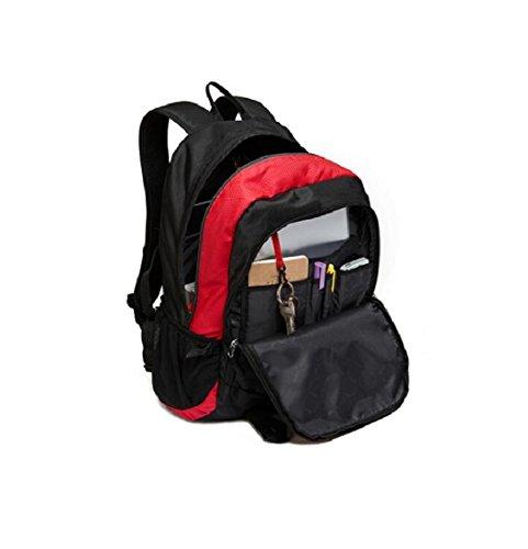 Z&N Backpack Hochwertiges Wasserdichtes Nylon Outdoor-Sport rucksack Laptop tasche Bergsteigen Reisen Camping Party picknick Rucksack Unisex-SchüLer tasche Tornister B