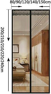 WXLJJYPD Mosquitera magnética para Puerta de balcón, salón, Puerta corredera, Puerta de terraza, Montaje Adhesivo sin Agujeros, Negro, 140 x 220 cm: Amazon.es: Hogar