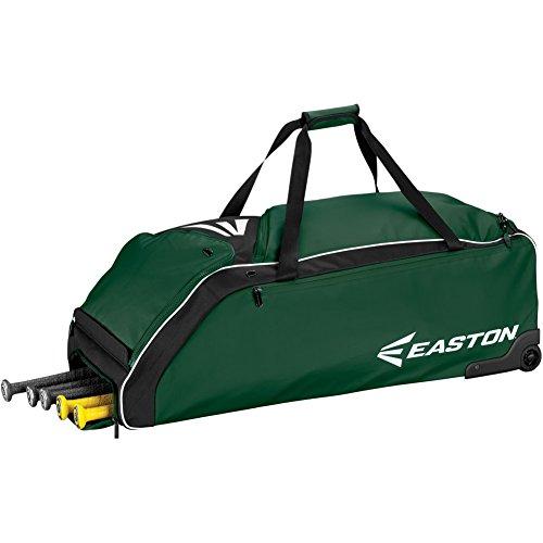 Easton E610W Wheeled Bag Baseball Bag, Green, 36