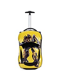 Kids Suitcase Car Design Toddler 3D Carry On Travel Luggage Hard Shell Suitcase Carryon for School Boys Girls (Yellow)