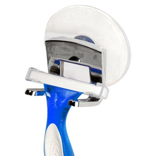 (iDesign Gia Metal Suction Bathroom Shower Hooks for Razor, Loofah, Wash Cloth, 2