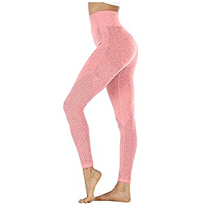 Goosuny Women's High Waist Seamless Leggings Ankle Yoga Pants Squat Proof Workout Tight Stretchy Yoga Pants Soft…