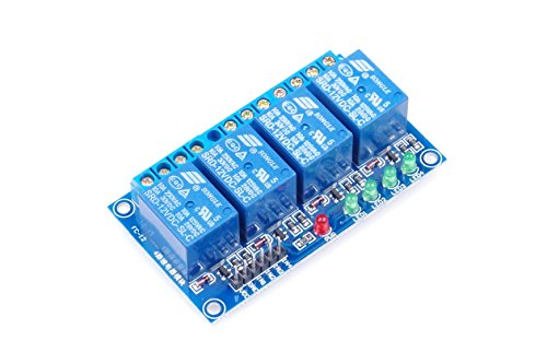 (KNACRO 4-Channel DC 12V Relay Module Low Level Trigger with Isolation Slot with Indicators 4-NC 4-NO for Arduino, Industrial Control, Home Appliance Control and More (DC 12V))