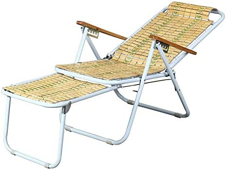 NO BRAND Tumbonas Jardin Playa era Tumbona Tumbona de jardín de bambú Silla con reposapiés Extensible Batten Empalme, sillas Plegables Silla de Ocio al Aire Libre ...