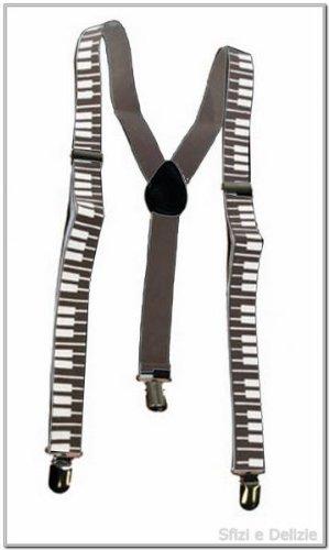 Bretelle con motivi pianoforte tastiera