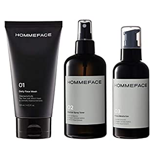 HOMMEFACE Daily Trio Skin Care Set for Men, 3-Step Routine