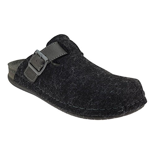 GALLUX - Herren Jungen Hausschuhe Pantoffeln flache Slipper Schuhe Grigio (Grau)