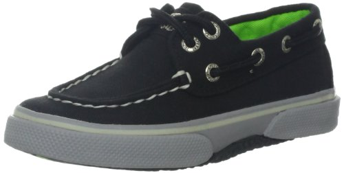 Top Sperry Toddler (Sperry Top-Sider Halyard Boat Shoe (Toddler/Little Kid),Black/Grey,9.5 M US Toddler)