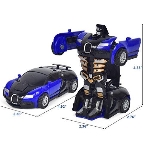 Cartoon Crash Deformation Transforming Robot Car Toy Kids Game Gift Electrical Safety (3pcs, Yellow&Red&Orange) by Viedoct (Image #3)