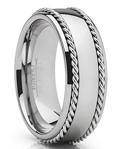 Metal Masters Co. Tungsten Carbide Wedding Band Men