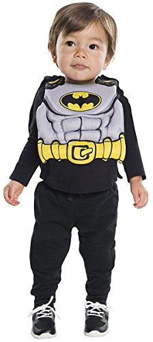 Rubie's Costume Co. Baby Dc Comics Batman Bib with Removable Cape, As Shown, One Size