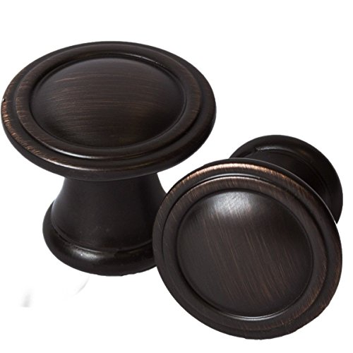 Belwith Bronze Knobs (Brookwood Cabinet Hardware Knobs Kitchen, Furniture Knob, Oil Rubbed Bronze (5 Pack))
