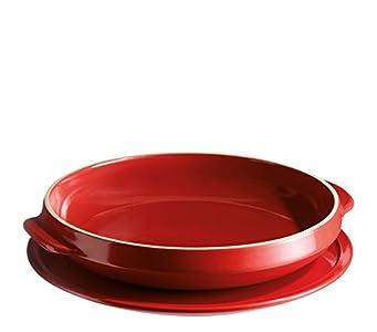 Emile Henry Eh349599 Set de Moule à Tarte Tatin Céramique Rouge Grand Cru 29 X 29 X 5,5 cm