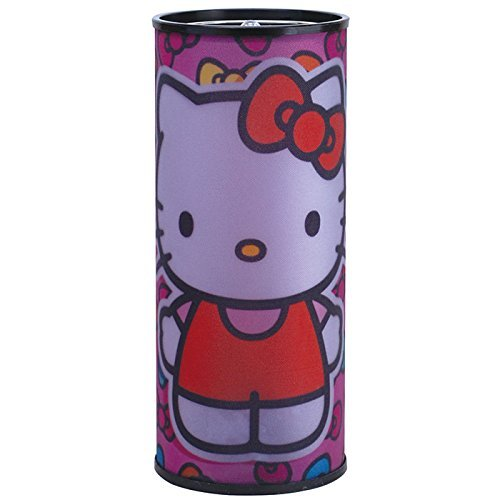 Westland Giftware Hello Kitty Bows Battery Operated Cylindrical Nightlight with Hanging Chain and On/Off - Light Fixture Hello Kitty