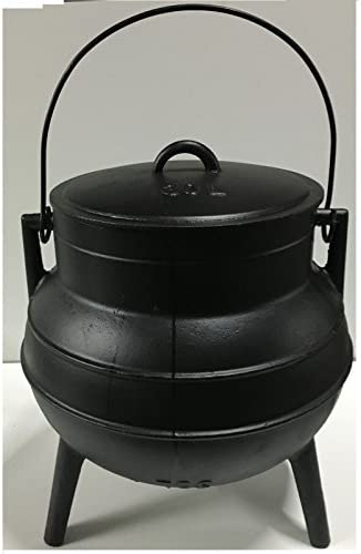 2 litros y 3 pies Pote gallego hecho en hierro fundido