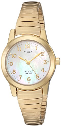 (Timex Women's TW2R63500 Essex Avenue Gold-Tone Stainless Steel Expansion Band Watch)