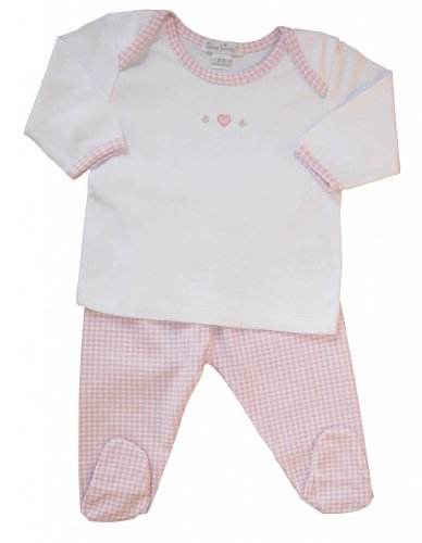 Kissy Kissy Baby Girls Homeward Gingham Embroidered Hearts Footed Pant (Gingham Sunsuit)