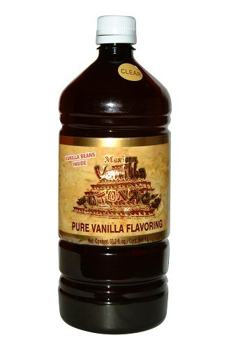 Authentic Clear Mexican Vanilla Totonacs 33.2 Oz (1 liter bottle)