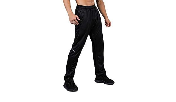 MEYINI Hombre Pantalón de chándal Reflectante - Pantalones de ...
