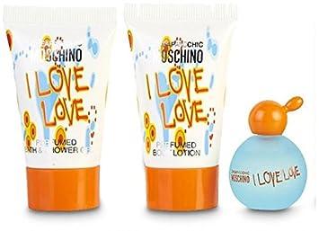 Amazon.com: Moschino I Love LOVE 3 piezas Mini juego de ...