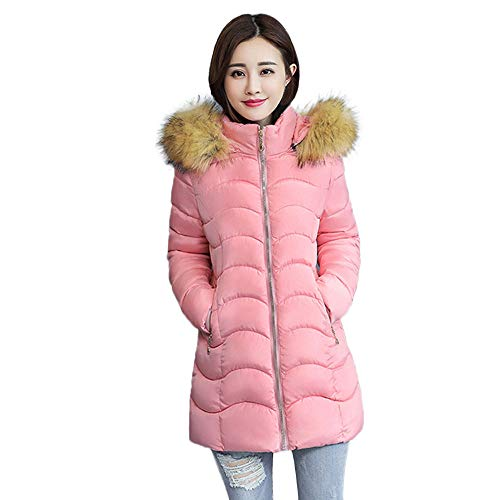 Faux Suede Hooded Coat - QIQIU ⭐️ Women's Faux Fur Hooded Thick Coat, Ladies Slim Jacket Long Overcoat Winter Warm Overcoat Clearance