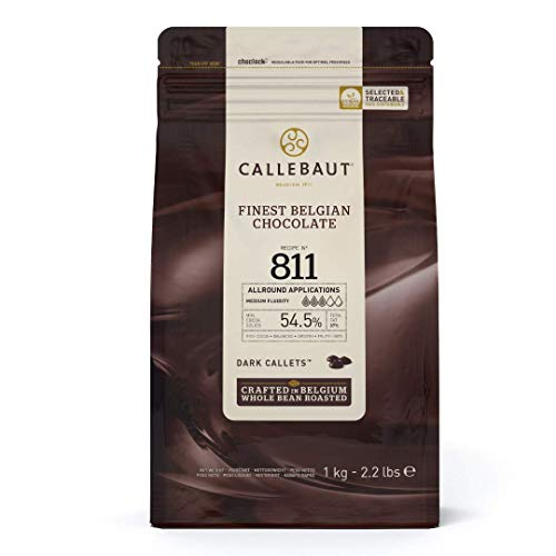 Belgian Dark Couverture Chocolate Semisweet Callets, 54.5% - 5.5 Lbs