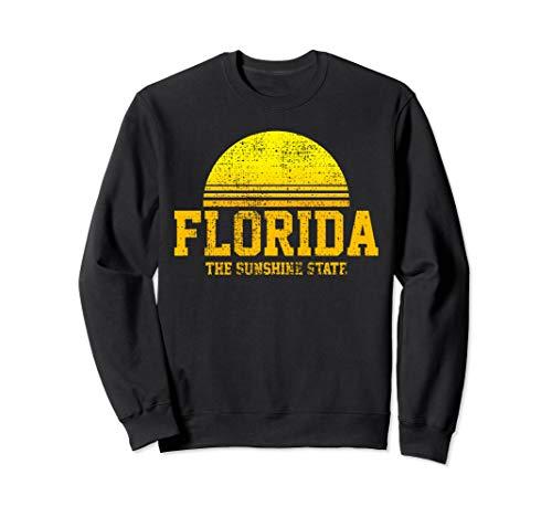 - Florida Vintage Retro The Sunshine State USA US State Gift Sweatshirt