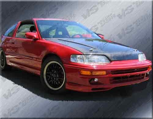 VIS 88-91 Honda Civic 3D/CRX Carbon Fiber Hood SiR EF
