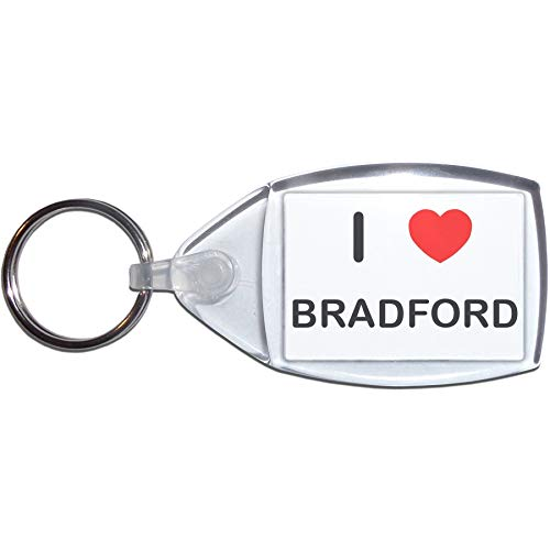I Love Bradford - Small Plastic Key Ring