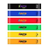 Resistance Loop Bands Set - 6 LEVELS - XTREME BANDS For Exercise, Fitness & Workout, Exceptional 6 BAND LOOP SET. Stretch Bands For Legs, Yoga, Pilates, Strength Training, & Physical Therapy, BONUS: Travel bag, Workout Manual, & PDF eBook. (12''x2'')