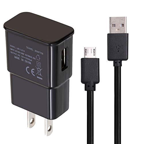USB Charger Cables for Galaxy J7 Sky Pro / Amazon Fire TV Stick / Compatible Samsung Galaxy S7 / S6 Edge / Kindle Ereader HD 8 HD 10 Tablets Data Sync USB Charging Cords 3.3ft (Black)