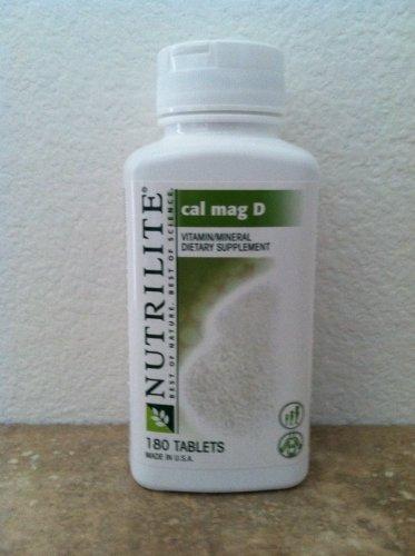 NUTRILITE Cal Mag D - Aide à prévenir l'ostéoporose avec calcium et vitamine D - 180 Usage (s) par Bouteille
