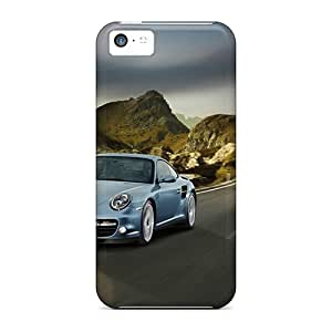 Tpu Fashionable Design 2011 Porsche 911 Turbo S Rugged Case Cover For Iphone 5c New