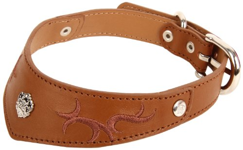 Puppia Cooper Leather Collar, Brown, Large