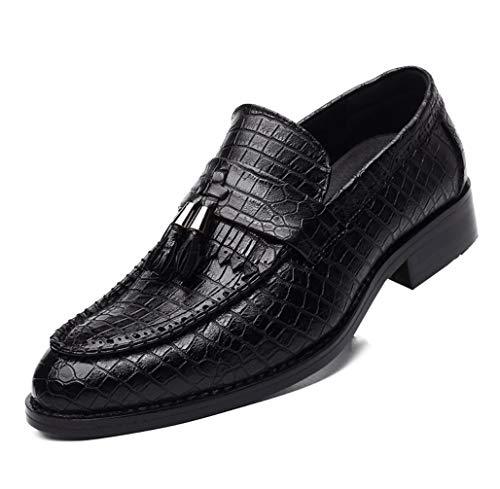救出に対処する窒息させるビジネスカジュアルクロコダイルパターンタッセルレザーシューズワイルドポイントヘアスタイル教師の潮の結婚式の靴ローファーシューズ快適