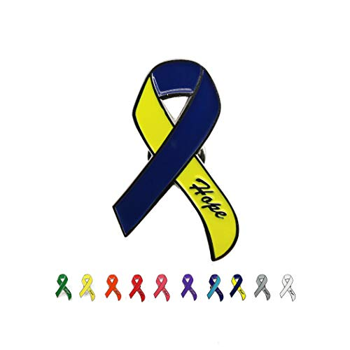 Syndrome Awareness Down Ribbon - DANXYN Down Syndrome Awareness pin