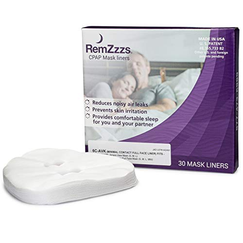 RemZzzs Full Face Cpap Mask Liners (6C-AVK) - Reduce Noisy Air Leaks and Painful Blisters - Cpap Supplies and Accessories - Compatible with Fisher Paykel and Hans Rudolph